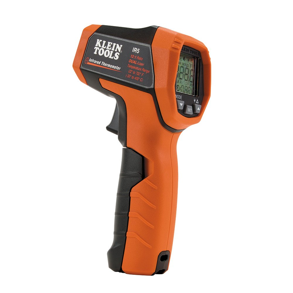 Klein Tools IR5 Dual Laser 12:1 Infrared Thermometer