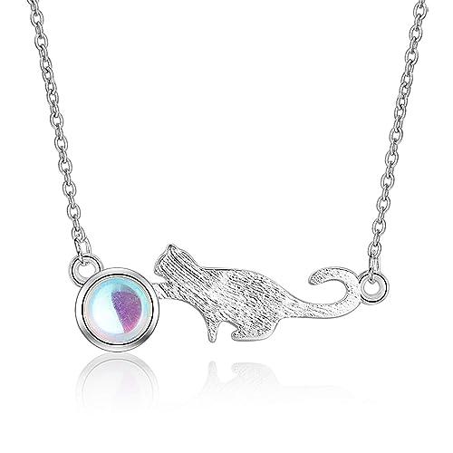 Amazon.com: TzrNhm Blossom - Collar con colgante de gato con ...
