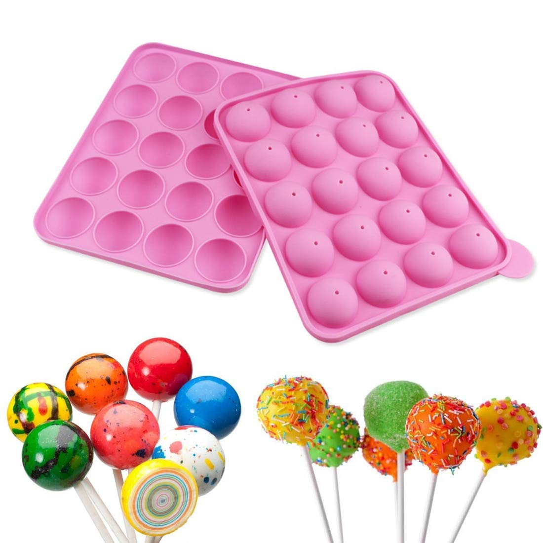 1PC Silicone Cake Pop Mold Cupcake Lollipop Sticks Baking Tray Stick Kitchen Pastry Tools Chocolate Soap Stencils Baking Forms