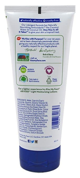 Kiss My Face Moisturizer Coconut 6 oz. Tube (Pack of 6) Summers Eve Night-Time Sensitive Skin Cleansing Cloths, Lavender 32 ea (Pack of 4)