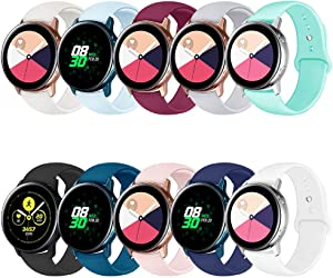 QINICHEN Compatible for Watch Bands 42mm,Soft Sport Silicone 20mm Replacement Wristband Strap Compatible for Watch 42mm,Watch Active 40mm