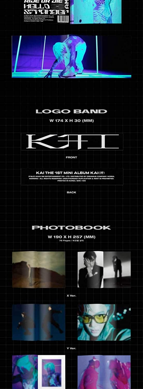 EXO Kai Kai 1st Solo Mini Album PhotoBook Version X Cover CD+72p PhotoBook+48p Tabloid+28p Lyrics+3p Sticker+1p Card+Message PhotoCard Set+Tracking Kpop Sealed