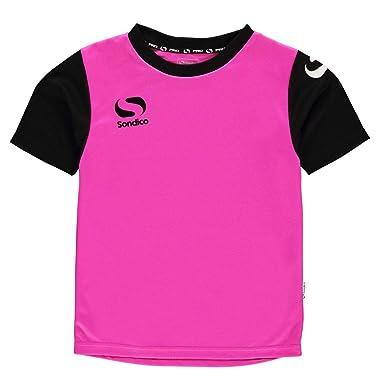 a22010f7c97 Sondico Boys SPro Luminous T Shirt Pink/Black Youth S: Amazon.co.uk:  Clothing