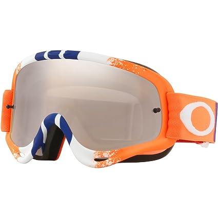 a72fe369e3 Amazon.com  Oakley O Frame MX Adult Off-Road Motorcycle Goggles Eyewear -  Pinned Race Orange Blue w Black Iridium Clear   One Size Fits All   Automotive