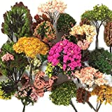 #7: NW 32pcs Mixed Colorful Model Trees Model Train Scenery Architecture Trees Model Scenery with No Stands(0.79-6.30inch)