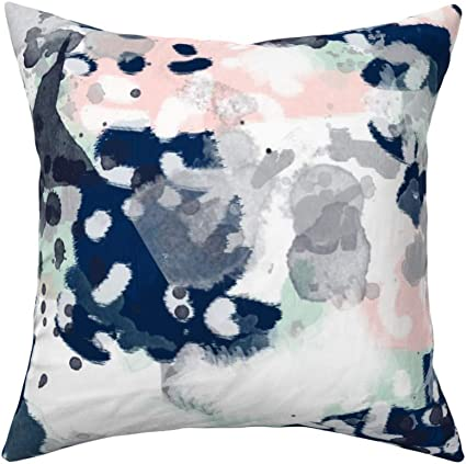 Einst Throw Pillow Cases Cushion Cover For Couch Bed Sofa Sloane Abstract Pink Navy Grey Mint Girls Abstract Nursery Baby 18 X 18 Inches Amazon Co Uk Kitchen Home