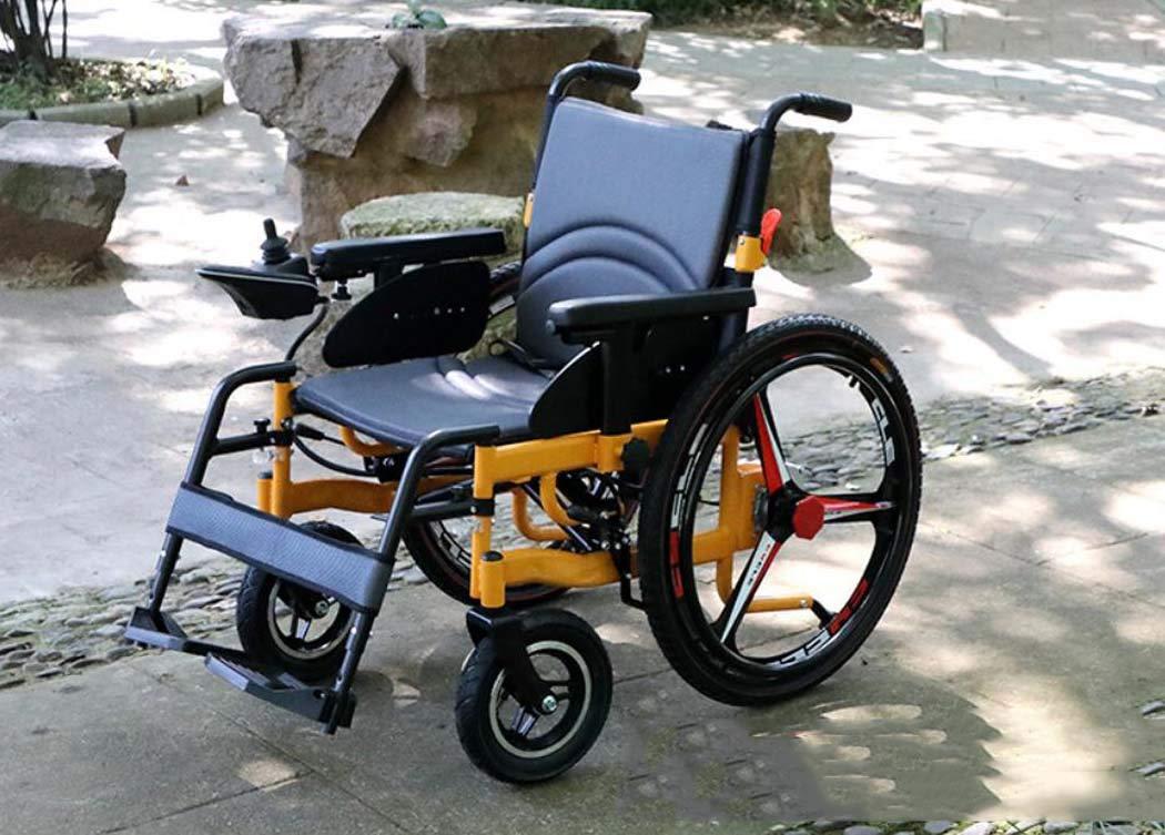高齢者用不自由なスクーター、アルミニウム合金全インテリジェント電動車いす、四輪電動車いす軽量折りたたみ車いす (色 : A-グレー, サイズ : 16 inch) B07HF6TFQ5 16 inch A-グレー A-グレー 16 inch