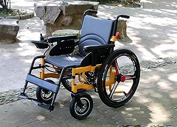 GJX Personas Mayores invalidez Scooter, aleación de Aluminio Plein eléctrica Silla de Ruedas eléctrica: Amazon.es: Deportes y aire libre