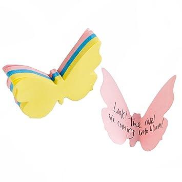 Suck UK 3D-Schmetterling Sticky Note Pad, 70 Blatt, 3 Farben: gelb ...