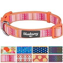 "Blueberry Pet Modern Trend Multicolor Beads Dog Collar, Neck 14.5""-20"", Medium, Adjustable Collars for Dogs"