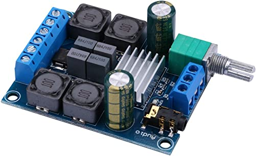 Amplifier Board, Yeeco 50W 50W Audio Power Amplifier Module DC 4.5-27V 2.0 Dual Channel Stereo Amp Board HiFi Digital Audio Amp Board DIY Sound System Component with Volume Adjustment Knob