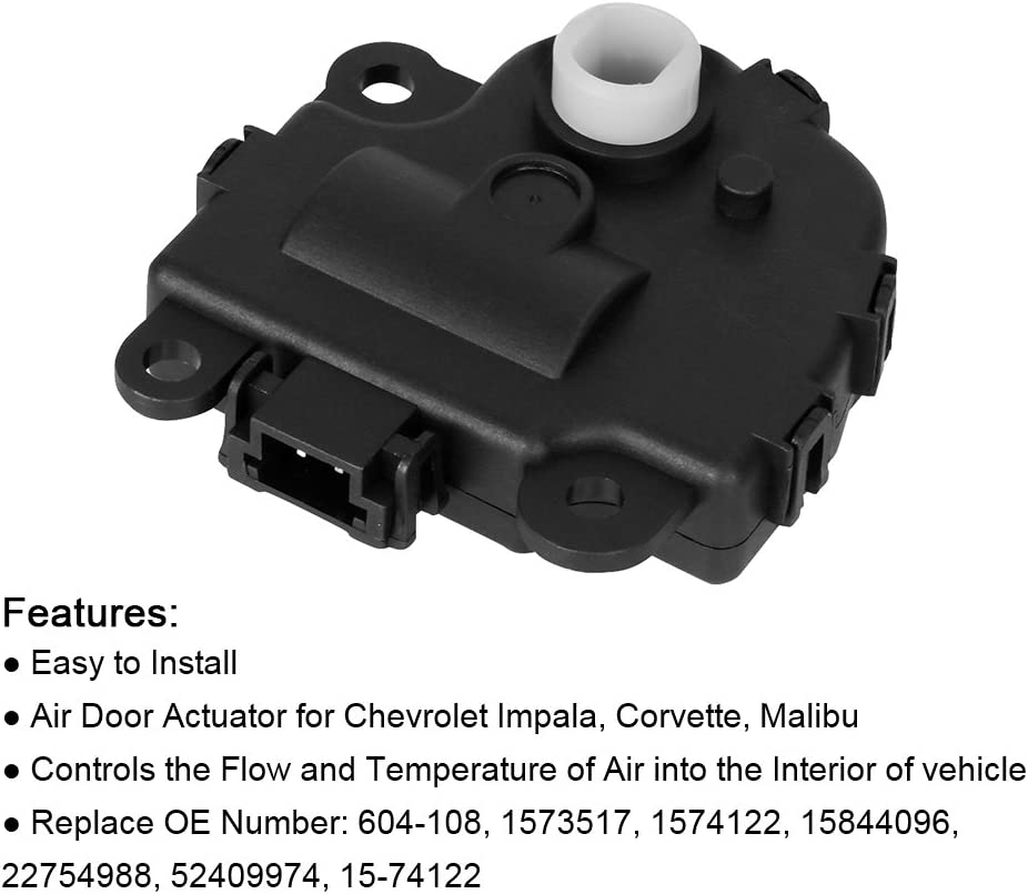 604-108 Blend Door Actuator Compatible with Chevy Impala 2004 2005 ...