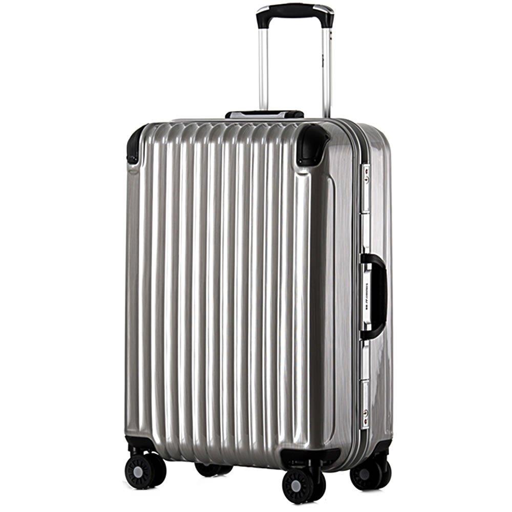 スーツケース 中型 フレーム Mサイズ 鏡面アンフィスバエナ B07CB9TQZD 中型、M、24|シルバー シルバー 中型、M、24