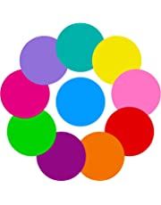10 Pieces Colorful Dry Erase Circles White Board Marker Removable Vinyl Dot Wall Decal for Drills and Training School Teaching Progress (11 inch)