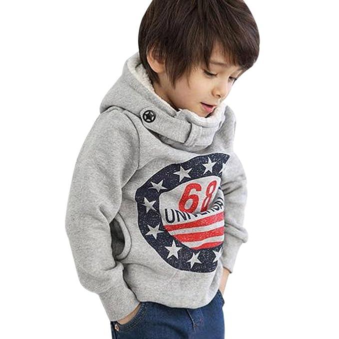 Kukul Niño Sudaderas con Capucha de Algodon Suéter Grueso Camiseta Camisa  Blusa de Manga Larga Tops 3858dd9cabd2a