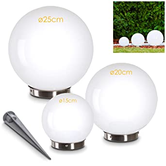 Boule solaire extérieure comprenant 3 pièces de différentes tailles ...