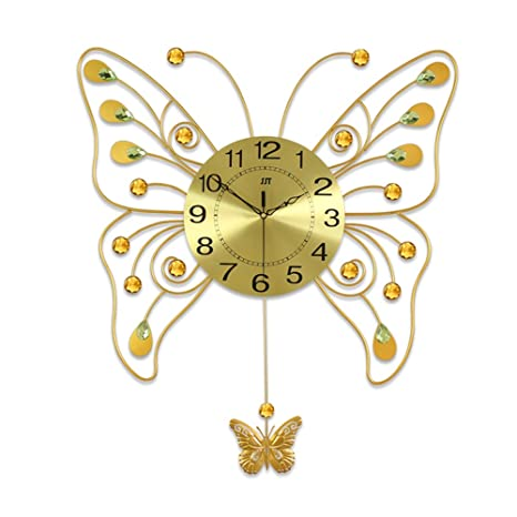 Butterfly Art Clock Decorating The Living Room Wall Clock Fashion Creative  Modern Clock Personalized Decorate Bedroom