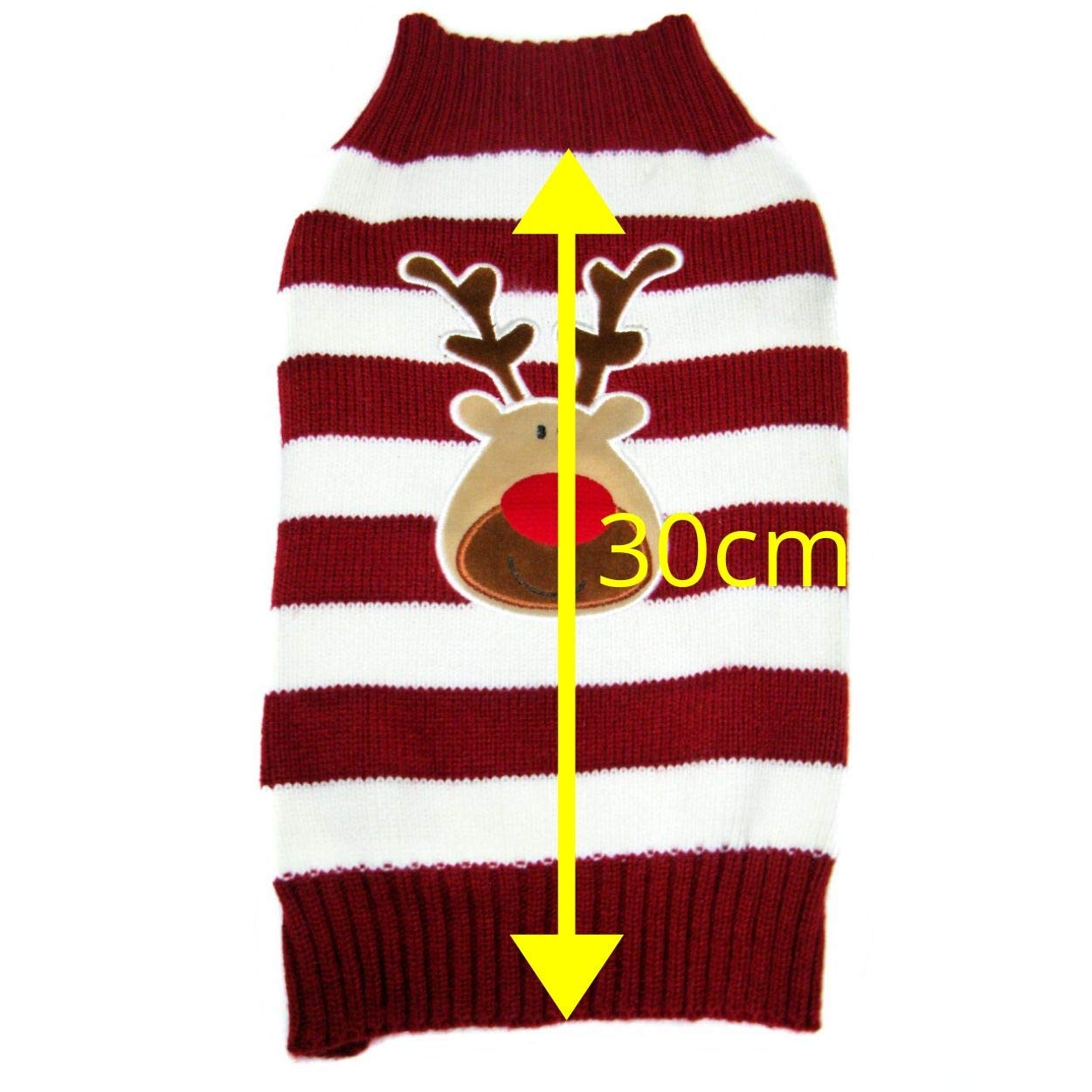 Small 30cm Fifi /& Fred Christmas Jumper for Dogs Cute Rudolph the Reindeer Plush Motif