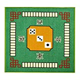 HUIPEN Square Mahjong Table Cloth Mat Household Thickening Silencing Anti-Skid Latex Bottom Chess and Cards Pad 31X31 inch
