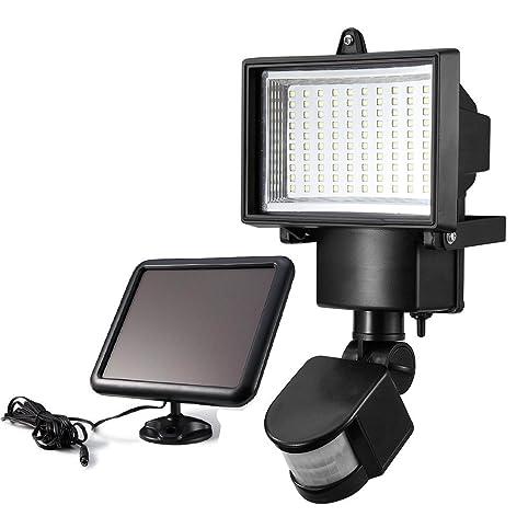 Kapoo Lampe solaire 100 LED Luminaire Exterieur Détecteur de ...