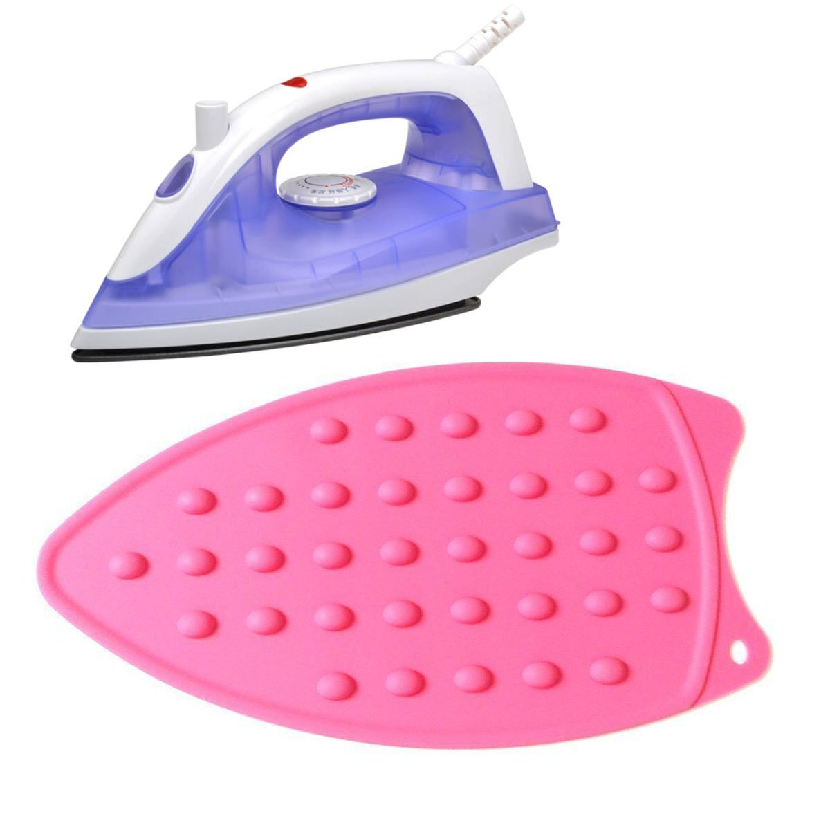 AMZALI Silicone Iron Rest Pad for Ironing Board Hot Resistant Mat Blue