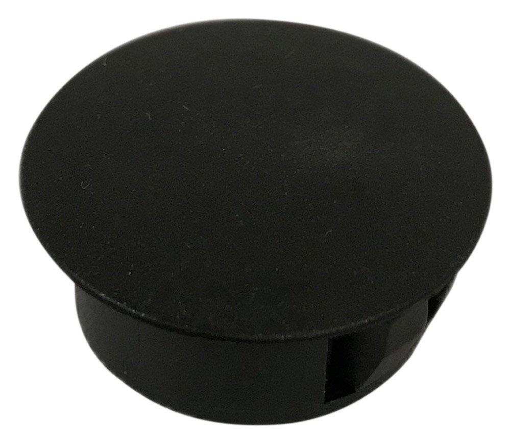 BUD Industries HPG142219 Push in Hole Plug for up to 14GA Thick Metal, Fits 0.75'' Hole Diameter, Black