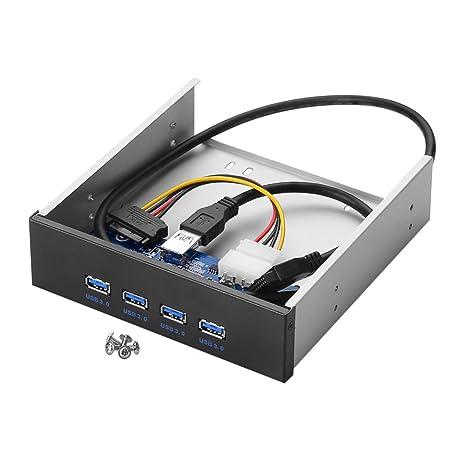 Sienoc Carcasa frontal de metal con 4 puertos USB 3.0 de 3,5 ...