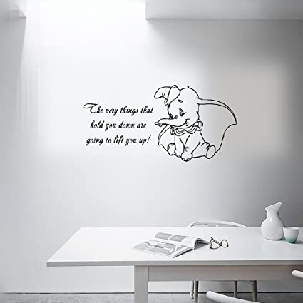 Amazon.com: Wall Sticker Quotes Dumbo Quote Vinyl Wall Decal ...