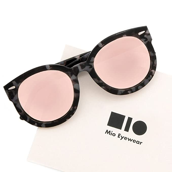 2e8fc8a1c72f8 Image Unavailable. Image not available for. Color  Mio Eyewear  Round -  Polarized Pink Mirrored  Sunglasses for Women (100%