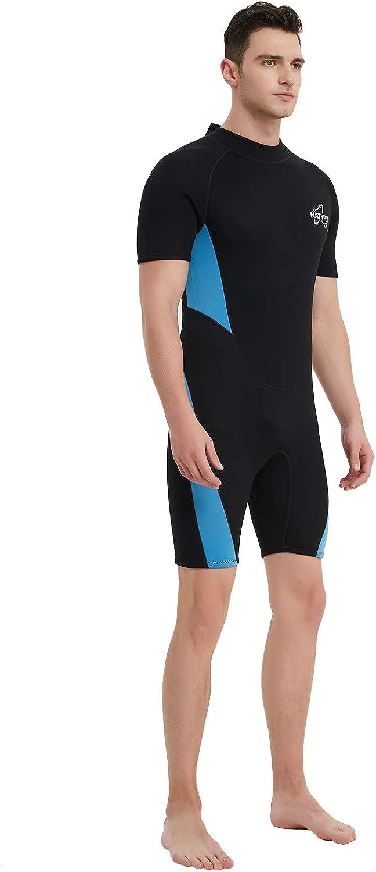 NATYFLY Wetsuit Men 3mm Neoprene Shorty Surfing Wetsuits for Women