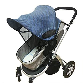 Baby Stroller Pram Car Seat Cover Breathable Cotton Sun Shade Canopy Universal