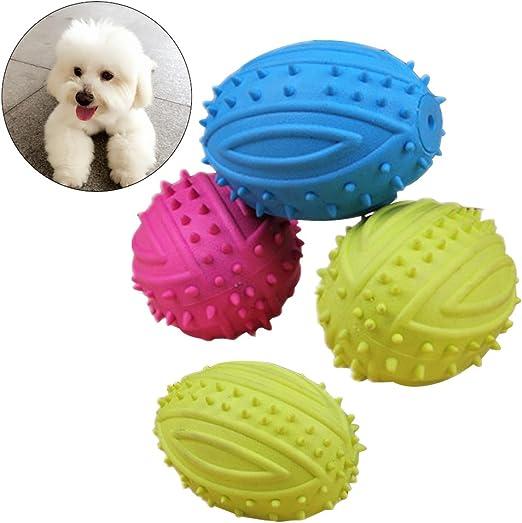 UEETEK 4 piezas de mascota de pelota de perro de mascota bola de ...