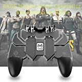 "BOKA® AK-66 Six Finger All-in-One PUBG Remote Controller Gampad for All Android & iOS Mobile Phones Size Upto 6.5"" inch - [Colour Black]"