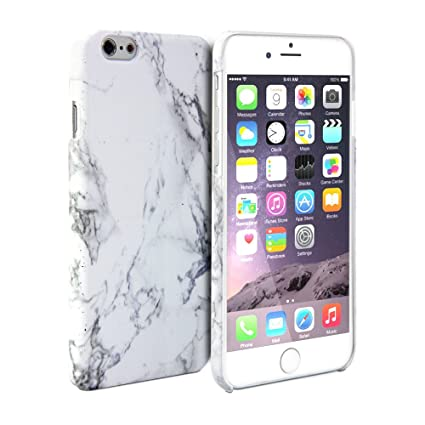 the latest 6ec21 bdcc5 iPhone 6 Plus Case, GMYLE Hard Case Print Crystal for iPhone 6 (5.5 inch  Display) - White Marble Pattern Slim Fit Snap On Protective Hard Shell Back  ...