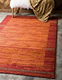 Unique Loom Autumn Collection Border Casual Rustic Warm Toned Terracotta Area Rug (9′ x 12′) Review