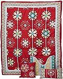 DK Leigh Nursery Crib Bedding Set, Red Graphic Floral, 7 Piece