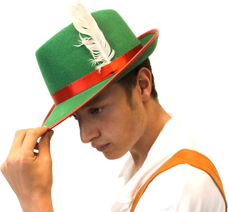 Men/'s TIROLESE VERDE cappello di feltro adulti Bavarese Costume Accessorio