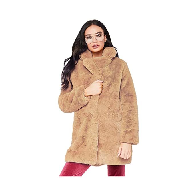 2018 Frauen Solide Flauschigen Faux Pelzmantel Elegante Dicke Warme Outwear Lange Jacke Mantel Herbst Winter Casual Partei Mantel Jacken & Mäntel