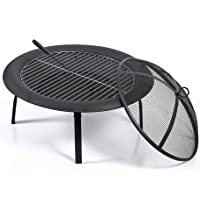 """22"""" Fire Pit BBQ Grill Fireplace Outdoor Portable Garden Patio Heater Camping"""