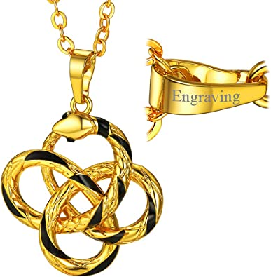 GOLDEN SONG Engraved necklace with Gold Colored Ball Chain 24