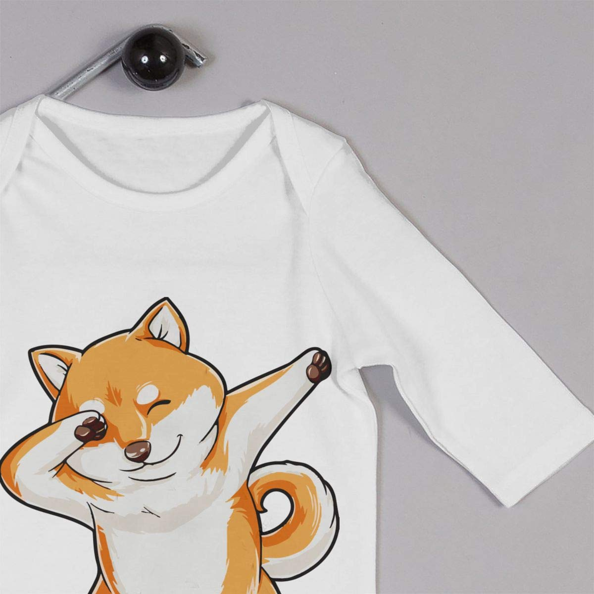 A1BY-5US Baby Infant Toddler Cotton Long Sleeve Dabbing Doge Shiba Inu Baby Clothes One-Piece Romper Clothes