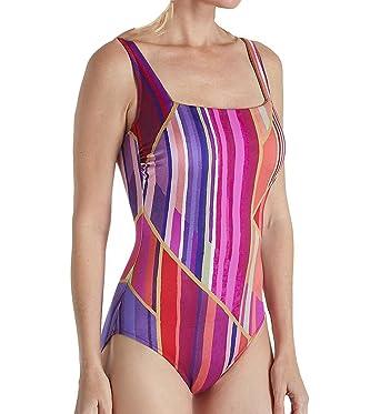 75dbd3d3a506a9 Gottex Art Deco Square Neck One Piece Swimsuit (18AD172) at Amazon ...