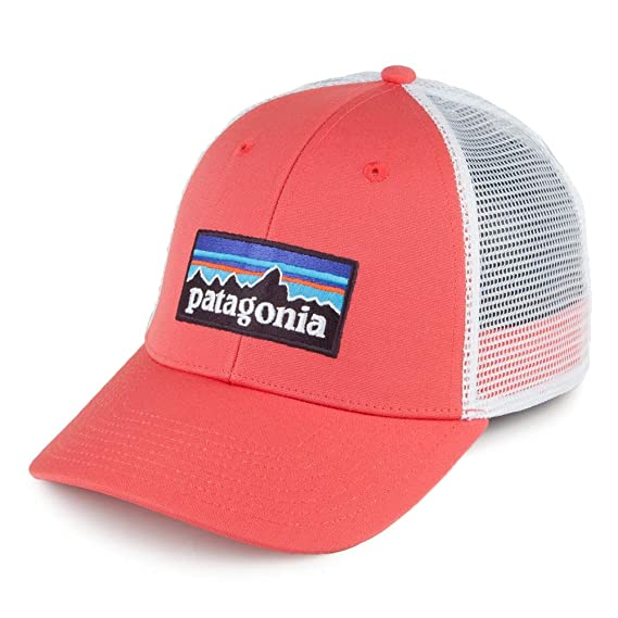 Patagonia Hats P-6 Logo LoPro Trucker Cap - Coral Adjustable  Amazon ... 6825f15154f5