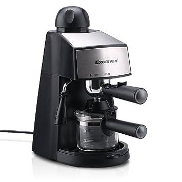 Excelvan cm6811 vapor Espresso y Cappuccino Cafetera ((4 tazas, 800 W 3.5bar): Amazon.es: Hogar