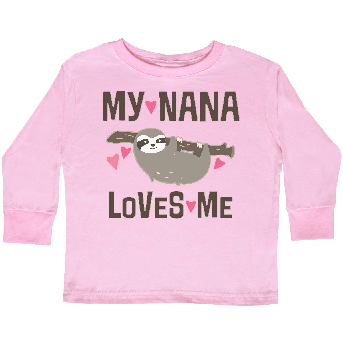inktastic My Nana Loves Me Sloth Toddler Long Sleeve T-Shirt