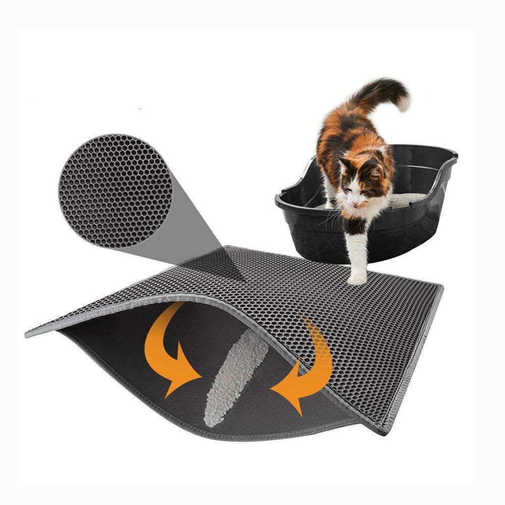 Amazon.com: Alfombrillas de gato, arena plegable de doble ...