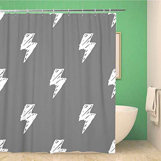 Gray board mandala flower Shower Shower Curtain Bathroom Decor Fabric /& 12hooks