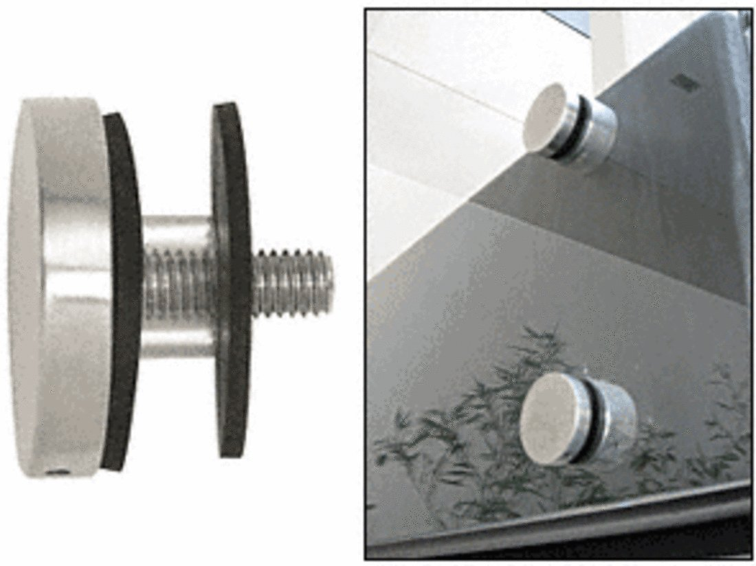 C.R. LAURENCE RCAP2BS CRL Brushed Stainless 2'' Glass Rail Standoff Cap Assembly