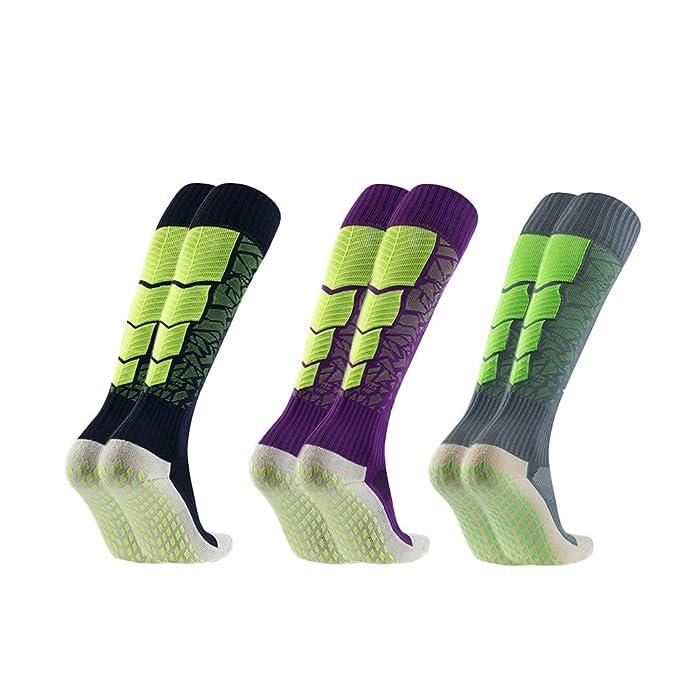 89b75d34c604 Amazon.com  Anti-Slip Soccer Sock Football Socks Mid Calf Short Stockings   Clothing