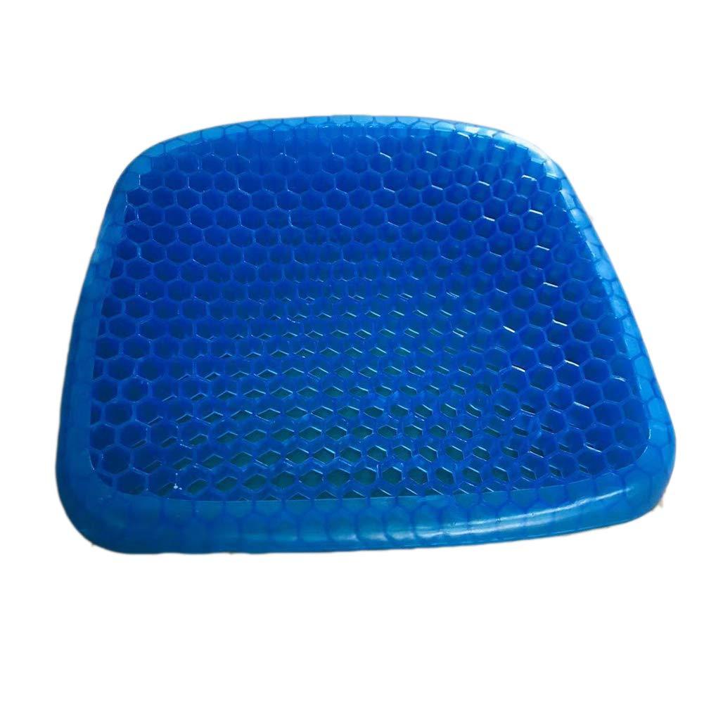 OPIB Coj/ín de Asiento Grueso Gel ortop/édico Duradero coj/ín port/átil de enfriamiento de Asiento c/ómodo Almohadilla para Silla de Coche sillas de Ruedas o casa